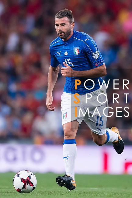 Andrea Barzagli of Italy in action during their 2018 FIFA World Cup Russia Final Qualification Round 1 Group G match between Spain and Italy on 02 September 2017, at Santiago Bernabeu Stadium, in Madrid, Spain. Photo by Diego Gonzalez / Power Sport Images
