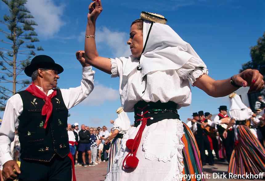 Sonntagsmarkt in Teguise, Folklore, Lanzarote, kanarische Inseln, Spanien