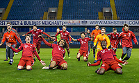 Bayern Munich celebrate winning the cup during the Premier League International Cup FINAL match between Bayern Munich II and Dinamo Zagreb II at The Den, London, England on 2 May 2019. Photo by Andy Rowland.