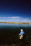 Tim Tollett fly fishing at Tash Ranch in Montana.