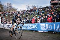 Corne Van Kessel (NED/Telenet Baloise Lions) in the infamous 'Pit'<br /> <br /> CX Superprestige Zonhoven (BEL) 2019<br /> Elite & U23 mens race