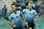 SYDNEY - APRIL 05:  Milos Ninkovic of Sydney FC celebrates scoring a goal during the AFC Champions League group H match between Sydney FC and Pohang Steelers on 05 April 2016 held at Sydney Football Stadium in Sydney, Australia. Photo by Mark Metcalfe / Power Sport Images *** Local Caption *** Milos Ninkovic