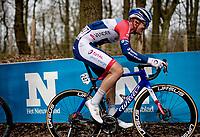 Dries Van Gestel (BEL/Total Direct Energie) up the Kemmelberg<br /> <br /> 83rd Gent-Wevelgem - in Flanders Fields (ME - 1.UWT)<br /> 1 day race from Ieper to Wevelgem (BEL): 254km<br /> <br /> ©kramon