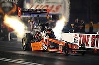 Oct. 31, 2008; Las Vegas, NV, USA: NHRA top fuel dragster driver Urs Erbacher during qualifying for the Las Vegas Nationals at The Strip in Las Vegas. Mandatory Credit: Mark J. Rebilas-
