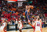 Dunking Beal Bradley (G, Washington Wizards, #3) - 22.01.2020: Miami Heat vs. Washington Wizards, American Airlines Arena