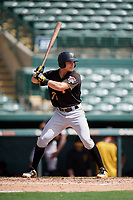 Pittsburgh Pirates catcher Arden Pabst (75) at bat during a Florida Instructional League game against the Baltimore Orioles on September 22, 2018 at Ed Smith Stadium in Sarasota, Florida.  (Mike Janes/Four Seam Images)