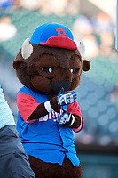 Buffalo Bisons mascot Chip during a game against the Syracuse Chiefs on May 18, 2017 at Coca-Cola Field in Buffalo, New York.  Buffalo defeated Syracuse 4-3.  (Mike Janes/Four Seam Images)