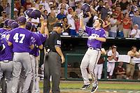 TCU's Witte, Jantzen 2765.jpg against Florida State at the College World Series on June 23rd, 2010 at Rosenblatt Stadium in Omaha, Nebraska.  (Photo by Andrew Woolley / Four Seam Images)