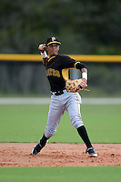 Pittsburgh Pirates shortstop Adrian Valerio (44) during an Instructional League game against the Tampa Bay Rays on September 27, 2014 at the Charlotte Sports Park in Port Charlotte, Florida.  (Mike Janes/Four Seam Images)