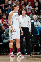 STANFORD, CA - MARCH 19, 2011:  Jeanette Pohlen and Tara VanDerveer at Maples Pavilion, March 19, 2010 in Stanford, California.