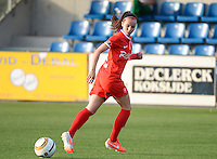 20140606 - Koksijde , BELGIUM : Twente's Marthe Munsterman pictured during the soccer match between the women teams of Club Brugge Vrouwen  and FC Twente Vrouwen  , on the 30th matchday of the BeNeleague competition on Friday 6th June 2014 in Koksijde .  PHOTO DAVID CATRY