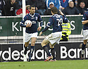 24/11/2007      Copyright Pic: James Stewart.File Name : sct_jspa14_falkirk_v_rangers.PEDRO MOUTINHO CELEBRATES AFTER HE SCORES FALKIRKS GOAL.James Stewart Photo Agency 19 Carronlea Drive, Falkirk. FK2 8DN      Vat Reg No. 607 6932 25.Office     : +44 (0)1324 570906     .Mobile   : +44 (0)7721 416997.Fax         : +44 (0)1324 570906.E-mail  :  jim@jspa.co.uk.If you require further information then contact Jim Stewart on any of the numbers above.........