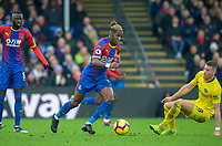 Wilfried Zaha of Crystal Palace during the Premier League match between Crystal Palace and Chelsea at Selhurst Park, London, England on 30 December 2018. Photo by Andrew Aleks.