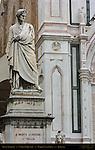 Statue of Dante Alighieri Enrico Pazzi 1865 Piazza Santa Croce Florence