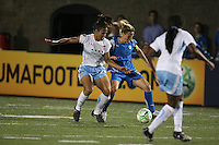 Kristine Lilly (#13) traps the ball. The Boston Breakers defeated the Chicago Red Stars 1-0, at Harvard Stadium, in Cambridge, MA, Wednesday, July 15, 2009.