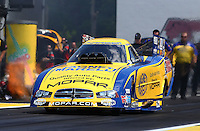 Jun. 2, 2013; Englishtown, NJ, USA: NHRA funny car driver Matt Hagan during the Summer Nationals at Raceway Park. Mandatory Credit: Mark J. Rebilas-