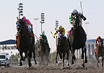 June 3, 2012. Nonios and Martin Pedroza win the Affirmed Handicap at Betfair Hollywood Park, Inglewood, CA.