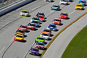 Monster Energy NASCAR Cup Series<br /> GEICO 500<br /> Talladega Superspeedway, Talladega, AL USA<br /> Sunday 7 May 2017<br /> Denny Hamlin, Joe Gibbs Racing, FedEx Express Toyota Camry and Kyle Busch, Joe Gibbs Racing, Skittles Red, White, & Blue Toyota Camry<br /> World Copyright: Nigel Kinrade<br /> LAT Images<br /> ref: Digital Image 17TAL1nk06068