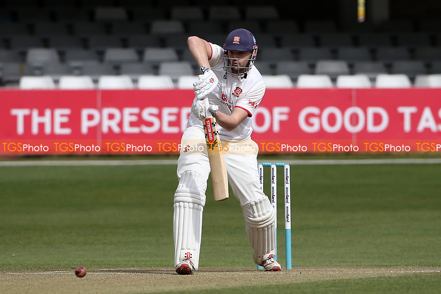 Nick Browne in batting action for Essex during Essex CCC vs Lancashire CCC, Friendly Match Cricket at The Cloudfm County Ground on 25th March 2021