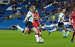 International Friendly match between Wales and Scotland at the new Cardiff City Stadium : Scottish Captain Darren Fletcher has a pop at goal.