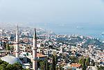 View from Kadifekale Castle over the town, Kadifekale and Izmir, Turkey
