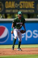 Daytona Tortugas third baseman Reyny Reyes (29) during a game against the Bradenton Marauders on June 9, 2021 at LECOM Park in Bradenton, Florida.  (Mike Janes/Four Seam Images)