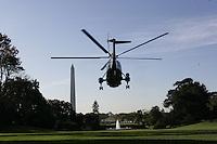 President Bush: White House South Lawn departure en route Quantico, Virginia.