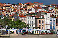 Houses by the beach. Banyuls sur Mer, Roussillon, France