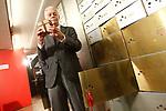 Spanish writer Eduardo Mendoza deliverys his legacy to the Caja de las Letras -The Letter Box of the Instituto Cervantes. April 21,2017. (ALTERPHOTOS/Acero)