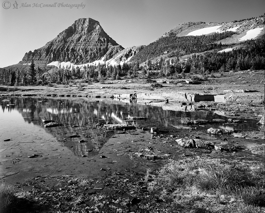 A hike up from Logan Pass, on the way to Hidden Lake, we had a chance to enjoy the morning light and the  accompanying tranquility.<br /> Going to the Sun Road, Glacier National Park