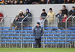 Colm Collins, manager of  Clare on the sideline against Down during their Division 2, Round 2 National League game at Cusack Park. Photograph by John Kelly.
