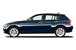 Driver side profile view of a 2011 - 2014 BMW 118d 5 Door hatchback.