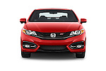 Car photography straight front view of a 2015 Honda Civic Si Coupe SI 2 Door  Front View
