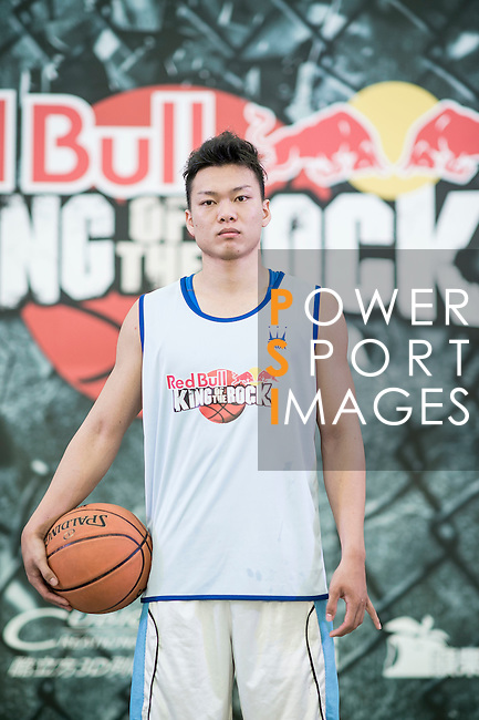 Jay poses for a portrait ahead the Red Bull King of the Rock Taiwan National Finals on July 18, 2015 at the Kaohsiung University basketball court in Kaohsiung, south Taiwan. Photo by Victor Fraile / Power Sport Images