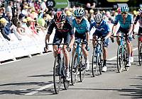 Geraint Thomas (GBR/Ineos Grenadiers) sprinting not to loose seconds up the Mûr-de-Bretagne finish<br /> <br /> Stage 2 from Perros-Guirec to Mûr-de-Bretagne, Guerlédan (184km)<br /> 108th Tour de France 2021 (2.UWT)<br /> <br /> ©kramon