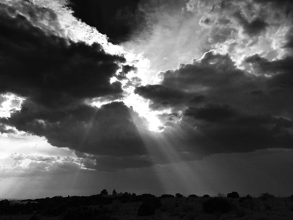 Eldorado sky in black and white