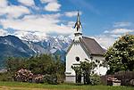 Austria, Tyrol, Innsbruck Holiday Village Aldrans: chapel | Oesterreich, Tirol, Innsbrucks Feriendorf Aldrans: Kapelle