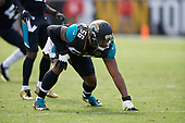 Jacksonville Jaguars Dante Fowler (56) during an NFL Wild-Card football game against the Buffalo Bills, Sunday, January 7, 2018, in Jacksonville, Fla.  (Mike Janes Photography)