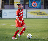 20140606 - Koksijde , BELGIUM : Twente's Larissa Wigger pictured during the soccer match between the women teams of Club Brugge Vrouwen  and FC Twente Vrouwen  , on the 30th matchday of the BeNeleague competition on Friday 6th June 2014 in Koksijde .  PHOTO DAVID CATRY
