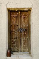United Arab Emirates, Abu Dhabi, Al Ain, Old weathered doorway