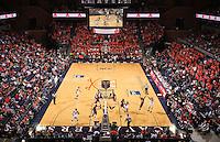 Virginia men's basketball at the John Paul Johns arena.