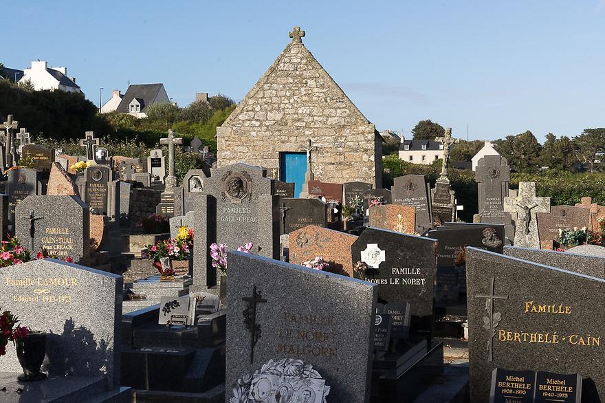 Ile d'Ouessant - Bretagna, 26 agosto 2020. Il cimitero di Lampaul.