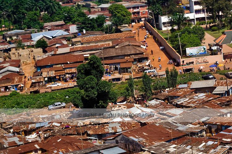 Aerial view of Enugu, Nigeria