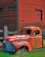 Old International pickup in Hood River County Oregon