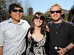 From left: Jason Mendoza, Sharon Siehl and Lukasz Maslanka at the Beastly Brunch at the Houston Zoo Sunday Feb. 28,2010. (Dave Rossman Photo)