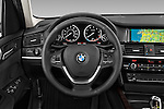 Car pictures of steering wheel view of a 2017 BMW X3 sDrive28i 5 Door SUV Steering Wheel