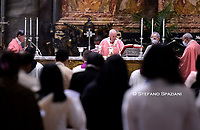 Pope Francis holds a mass to mark 500 years of Christianity in the Philippines, on March 14, 2021 at St. Peter's Basilica in The Vatican.