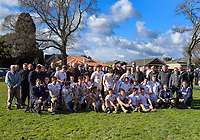 The 2017 PNBHS team with 1987 and 1977 old boys after the Super 8 1st XV rugby match between Palmerston North Boys' High School and Rotorua Boys' High School at PNBHS in Palmerston North, New Zealand on Saturday, 29 July 2017. Photo: Dave Lintott / lintottphoto.co.nz