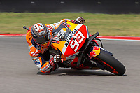 3rd October 2021; Austin, Texas, USA;  Marc Marquez of Spain and Repsol Honda Team into turn 16 during the MotoGP Red Bull Grand Prix of the Americas  at Circuit of The Americas in Austin, Texas.