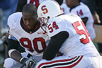2 December 2006: Udeme Udofia and Ekom Udofia during Stanford's 26-17 loss to Cal in the 109th Big Game at Memorial Stadium in Berkeley, CA.